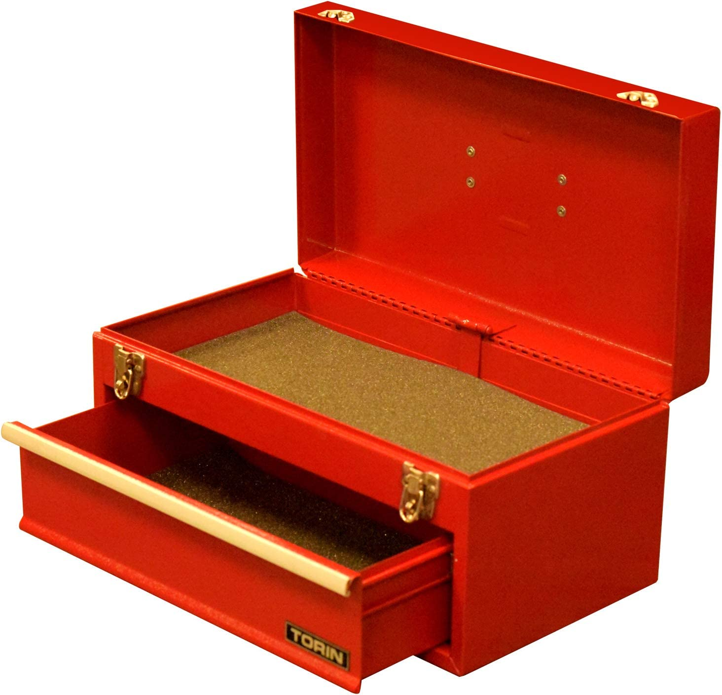 Red BIG RED ANTBD133-XB Torin 20 Portable 3 Drawer Steel Tool Box with Metal Latch Closure