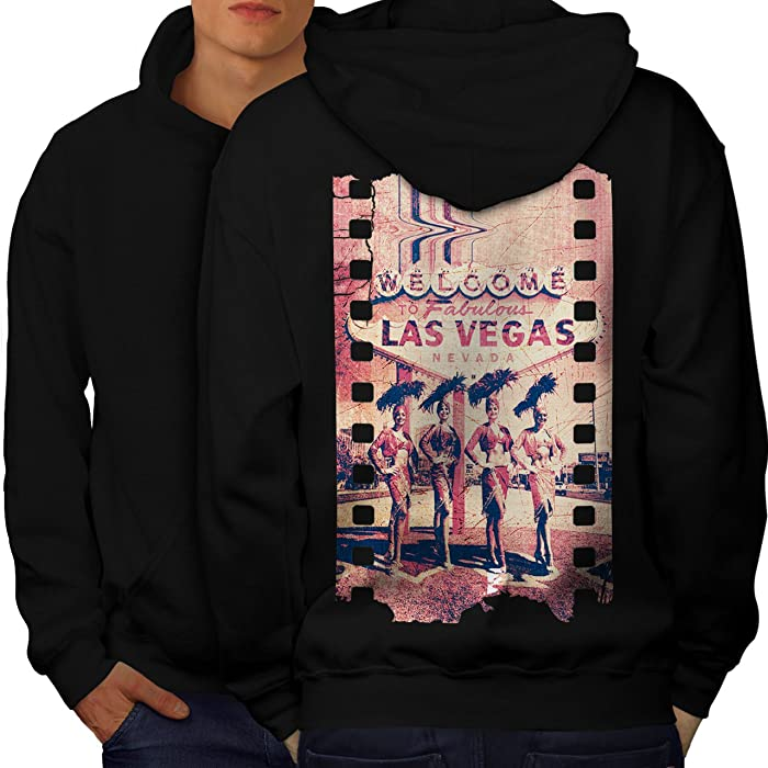 Amazoncom Wellcoda Welcome To Las Vegas Mens Hoodie Nevada