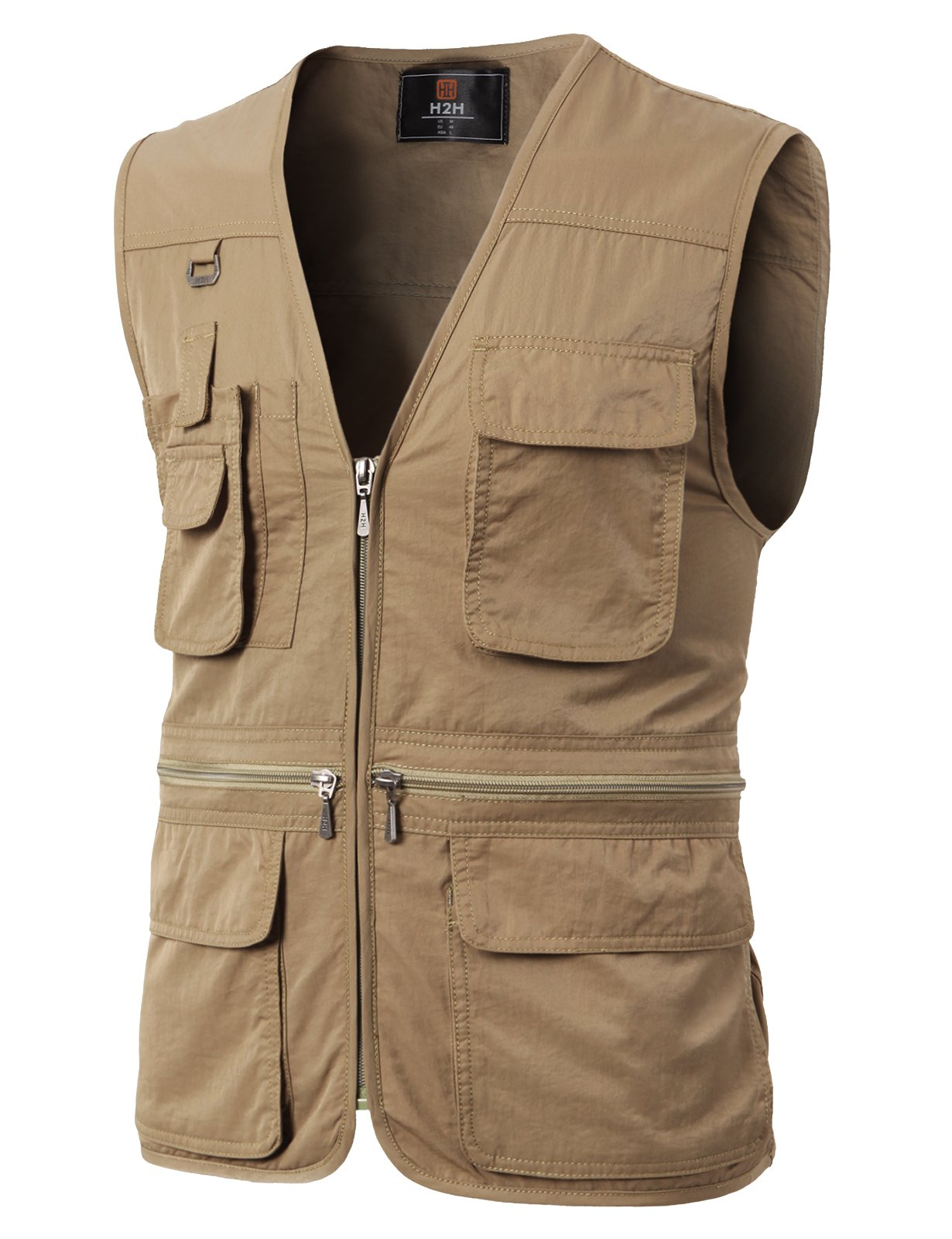 H2H Men¡¯s Featherweight Vest - 14 Pockets - Travel Clothing Brown US M/Asia L (KMOV0113)