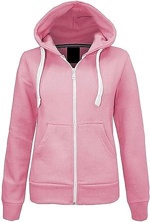 Kids Plain Hoodie Unisex Hooded Zip Zipper Top Sweat Shirt Zipped Hooded Sweater