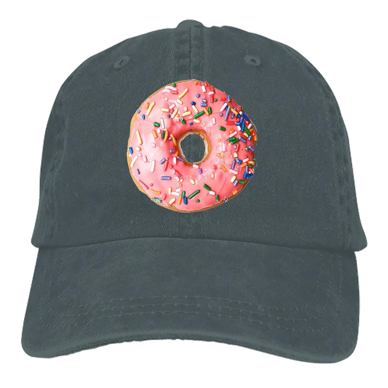 SHUANGRENDE Sprinkled Donut Adult Denim Dad Solid Baseball Cap Hat