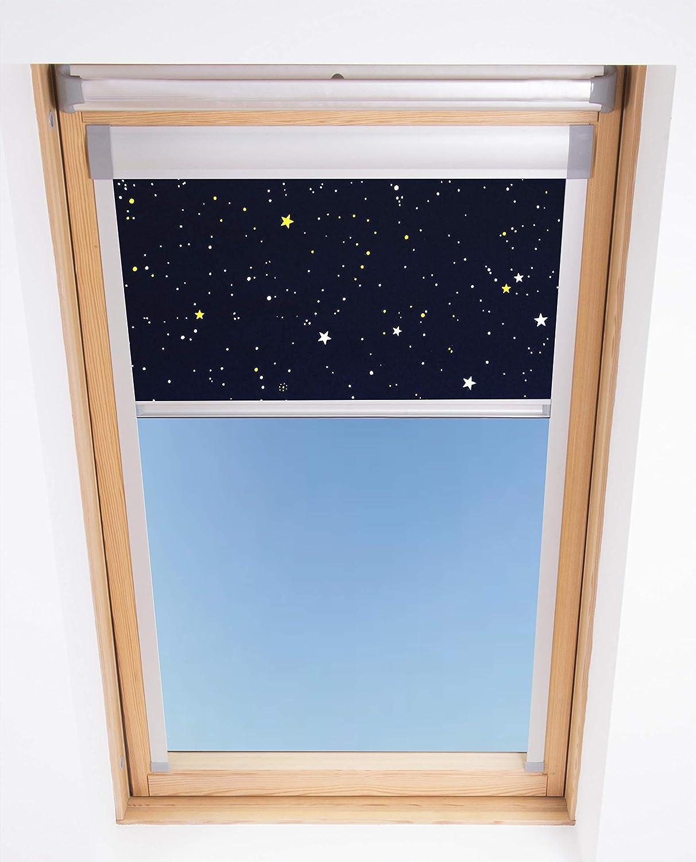 Bloc. Persianas Skylight Opacas, poliéster, Azul Marino, Bloc Blinds M04