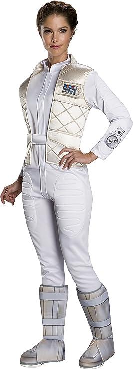 STAR WARS Classic Princess Leia Hoth Adult Costume - Small: Amazon ...