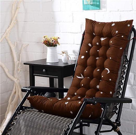 Q&F Plegable Cojines sillas Jardin Exterior Engrosamiento Asiento al Aire Libre Amortiguador de la Silla Trasera para otoño e Invierno-D 48x155x8cm(19x61x3inch): Amazon.es: Hogar