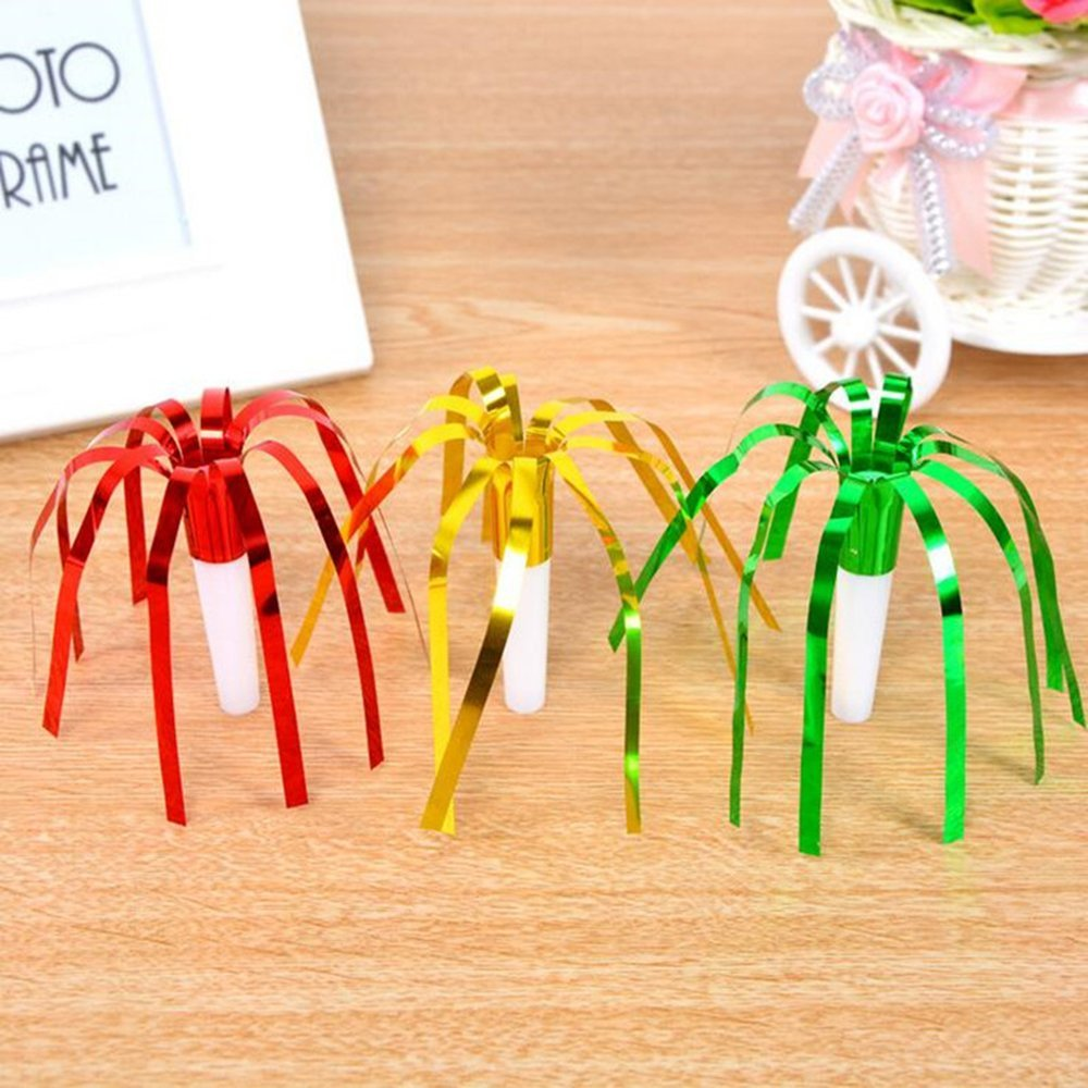 Blowouts Whistles for Party. Assorted Colors iPang Party Noisemakers WedFeir 72pcs Musical Blow Outs and Glitter Fringed Metalic Noisemaker