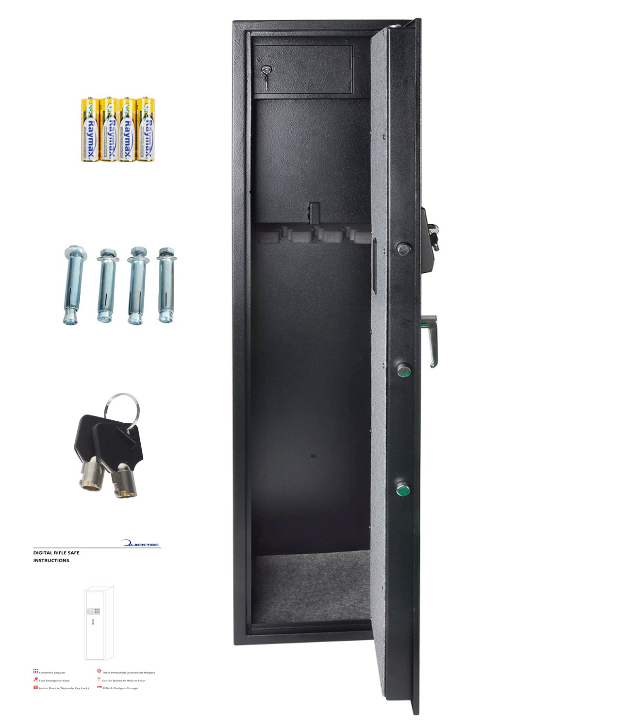 Rifle Safe Gun Safe Quick Access 5-Gun Shotgun Cabinet by Quicktec (Image #2)