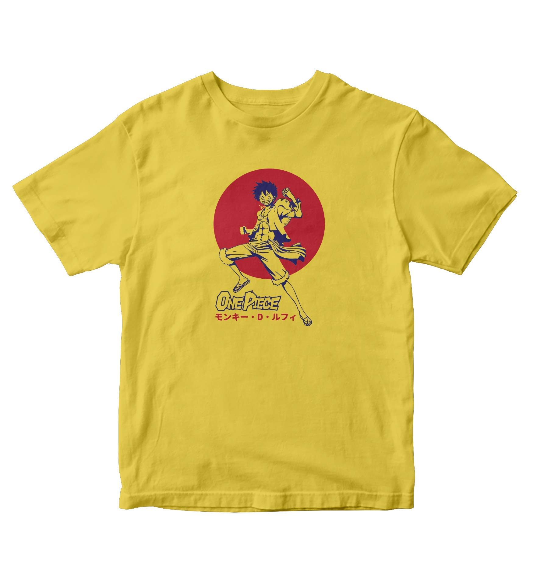 Tjsports One Piece Shirt Monkey D Luffy Yellow Shirt Anime Manga S A728
