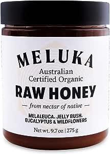 Meluka 100% Organic Raw Wildflower Australian Honey