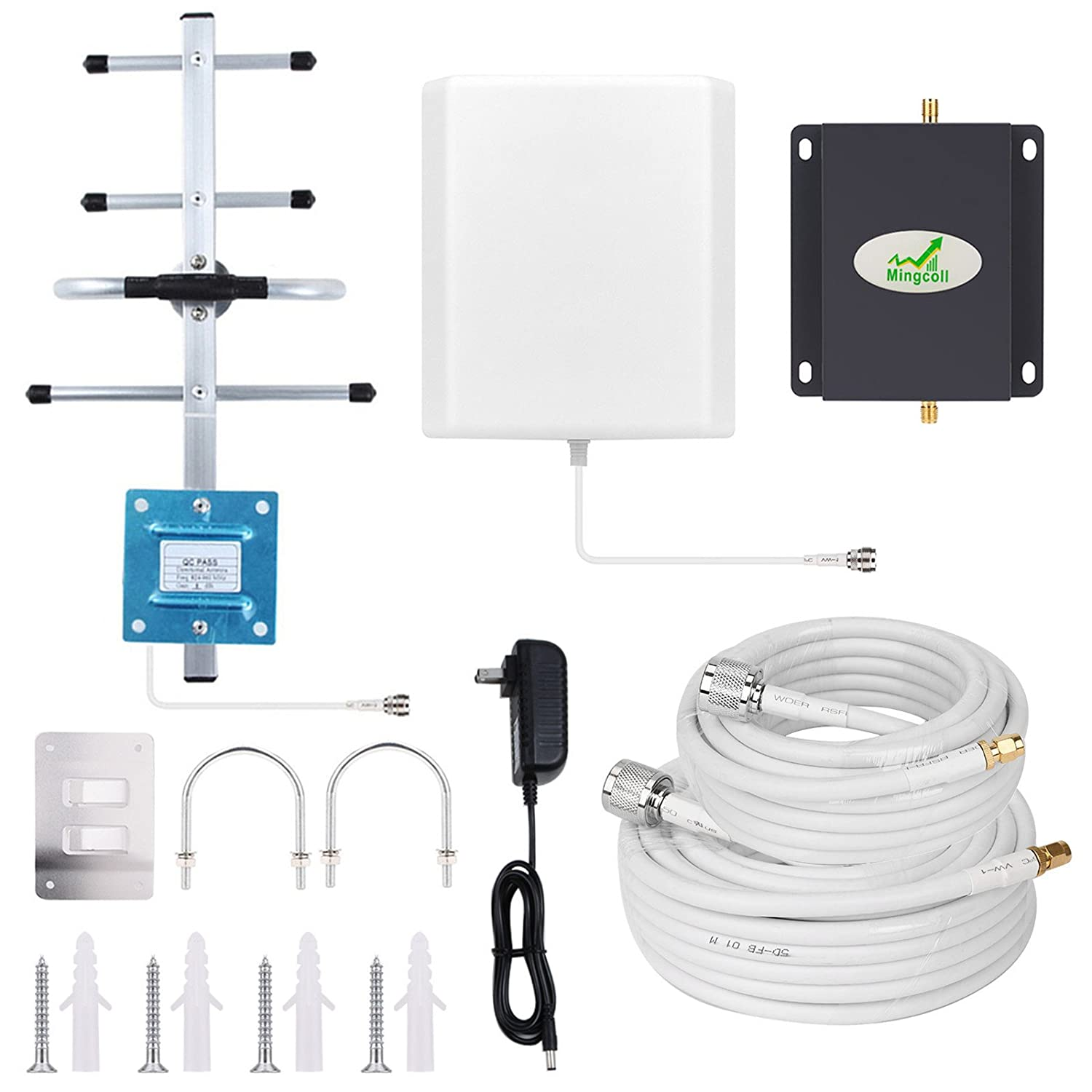 Home 4G Cell Phone Signal Booster AT&T T-Mobile Cell Signal Booster Mingcoll 700MHz Band 12/17 FDD ATT Mobile Cellular Signal Booster Mobile Phone ...