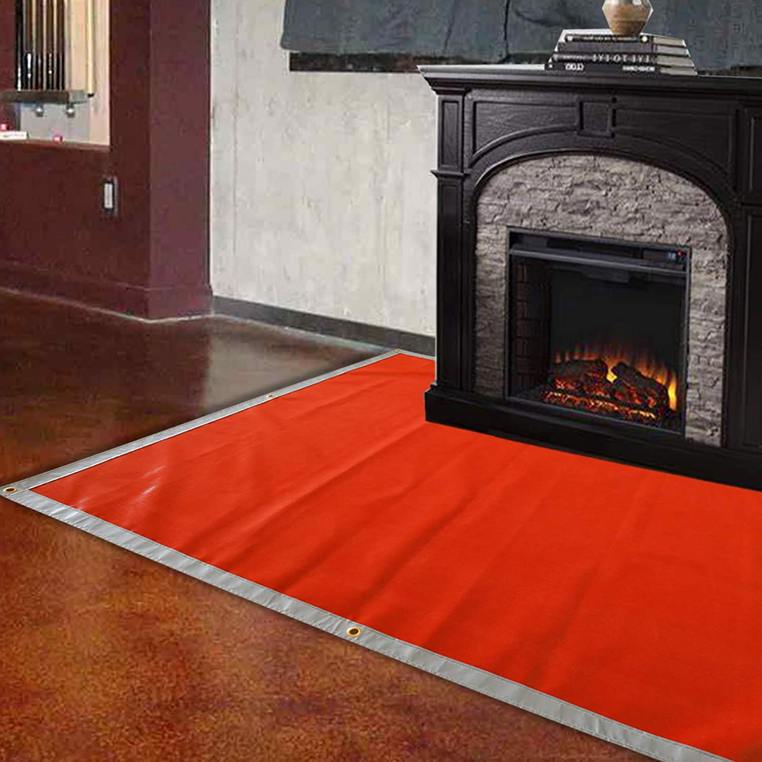 Patio Fire Pit Mat Finderomend Ember Mat 67 x 60 Protect Your Deck Lawn or Campsite from Popping Embers Grill Mat