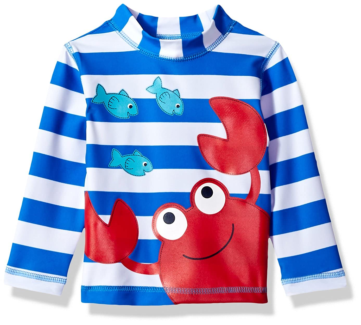 Little Me Baby Boys' UPF 50+ Long Sleeve Rashguard Swim Shirt
