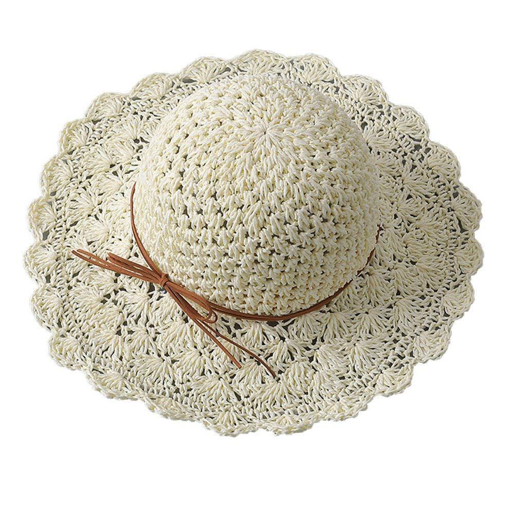 ZHANGYONG Sombrero de Paja de Verano para Mujer Sombrero de ...