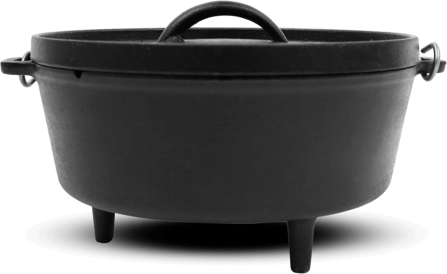 "Pit Boss 68009 10"" Cast Iron Dutch Oven, Black"