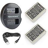 Newmowa Double USB Chargeur + 2 Batteries BLN-1 pour Olympus BLN-1, BCN-1 et Olympus Om-D E-M1, Om-D E-M5, Pen E-P5,Om-D E-M5 II
