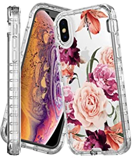 new style 1db18 127af Amazon.com: Hanogram Floral & Marble - iPhone X Case: Cell Phones ...
