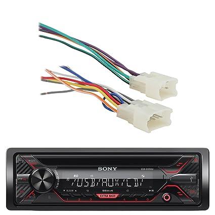 amazon com sony cdx g1200u 55w am fm cd mp3 receiver with enhanced rh amazon com Aircraft Wire Harness Wire Harness Schematic