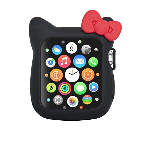de99d25b6 Image Unavailable. Image not available for. Color: Navor Soft Silicone  Protective Cute Kitty Case Cover Case Compatible with Apple Watch 38mm  Series 1