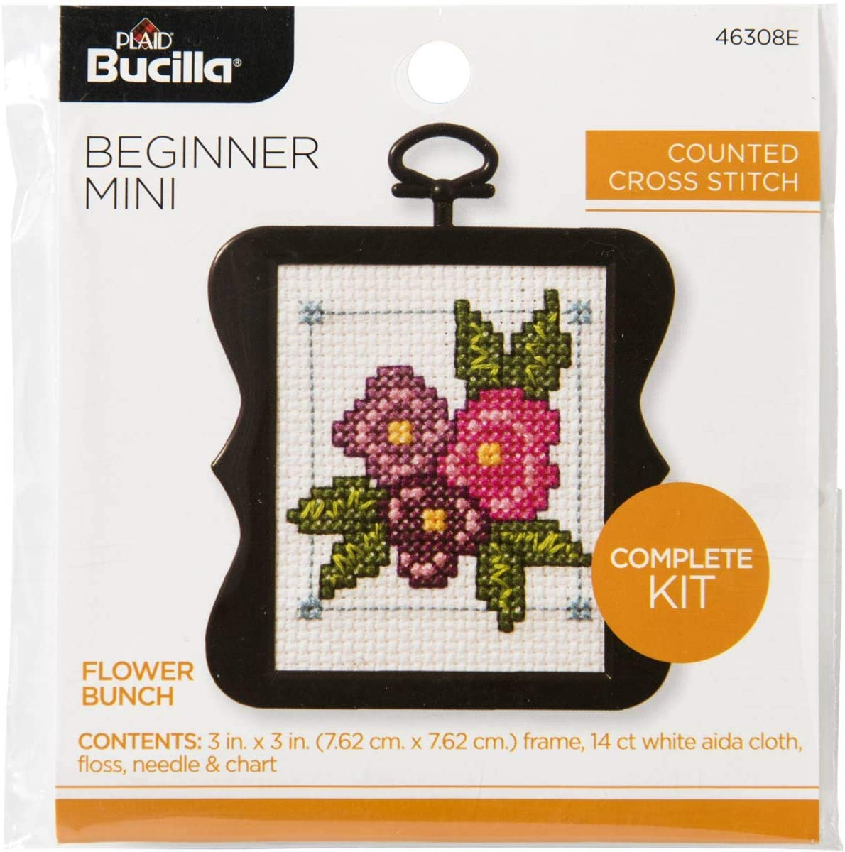 Bucilla My 1st Stitch Mini Counted Cross Stitch Kit 45451 Cupcake