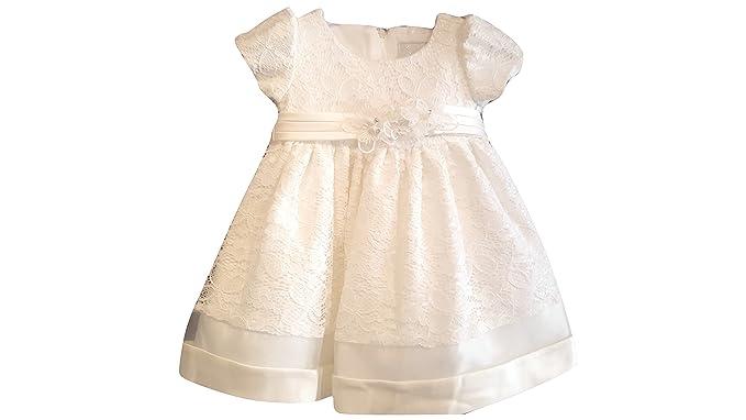 Sevva - Ropa de Bautizo - Vestido - para bebé niña Beige Marfil 0-6 Meses: Amazon.es: Ropa y accesorios