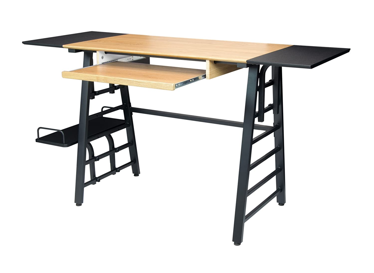 Table drawing for kids - Amazon Com Calico Designs 51240 Convertible Art Drawing Computer Desk For Kids Ashwood Graphite Arts Crafts Sewing