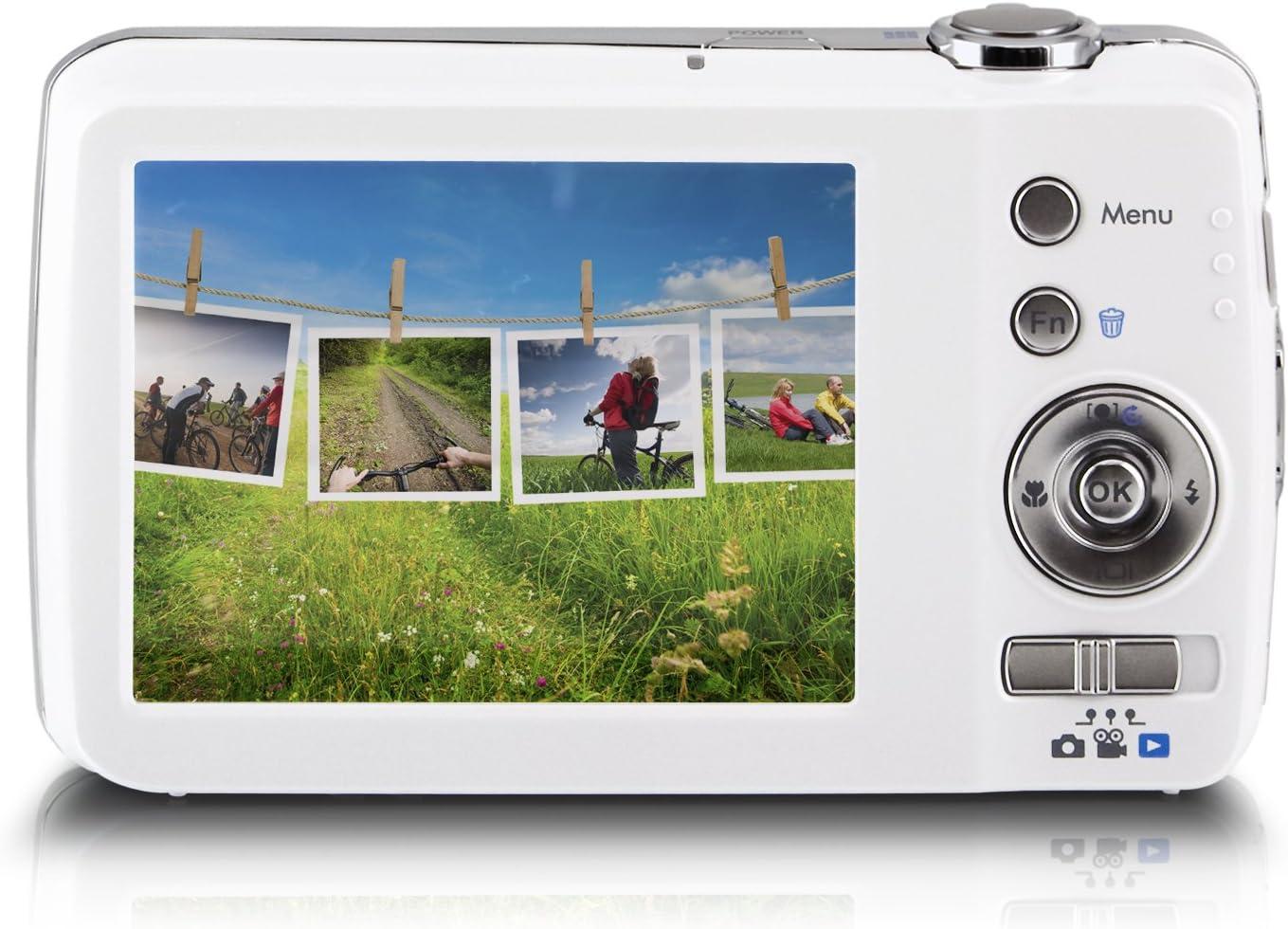 Praktica Luxmedia 16 Z51 Digitalkamera 2 7 Zoll Weiß Kamera