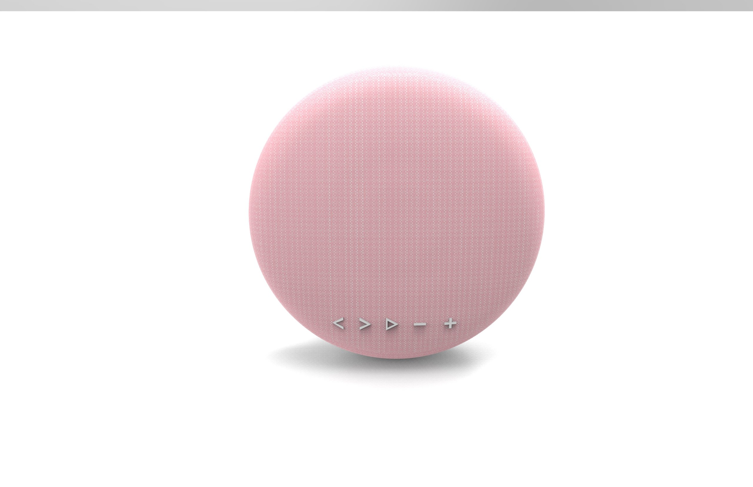 High Fidelity Tech-Luxury Portable Bluetooth Wireless Speaker-Best Bluetooth speaker for home and outdoors-With stand and carry strap-Light Pink Color