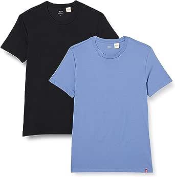 Levi's Slim 2 Pack Crewneck 1 Camiseta (Pack de 2) para Hombre