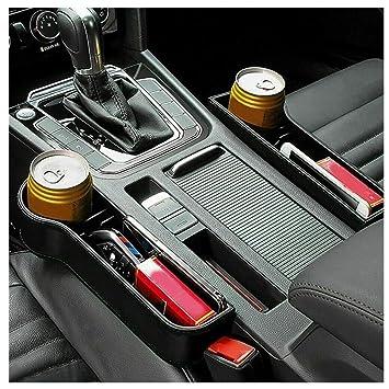 2er Pack Auto Lückenfüller Organizer Car Seat Pocket Multifunktionsbox Organizer Auslaufsichere Aufbewahrungstasche Mit Getränkehalter Aufbewahrungsbox Aus Leder Für Autositze Baby
