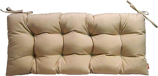 "Set of 4 Outdoor Sunbrella Canvas Canvas Neutral  2/"" Foam Seat Cushion w// Ties"