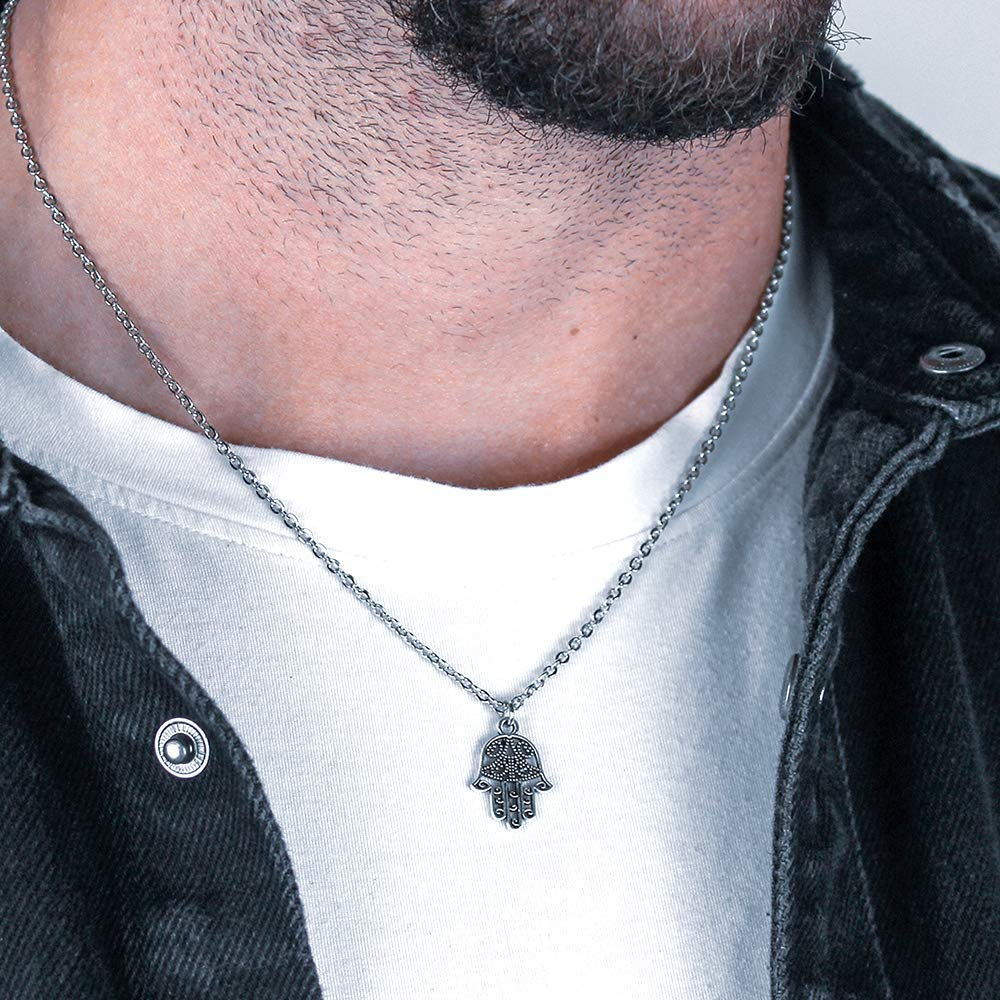 The Hasma Hand Silver Necklace