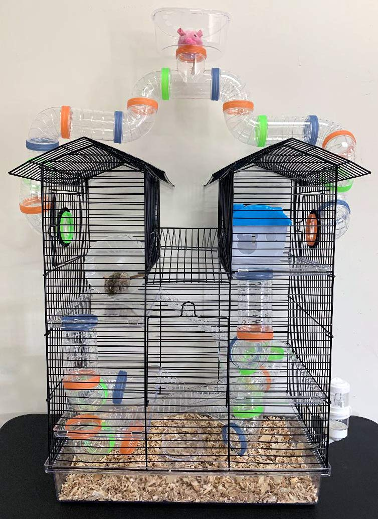 Large 5 Level Clear Transparent Habitat Dwarf Syrian Hamster Rodent Gerbil Mouse Mice Critter Cage With Watching Tower