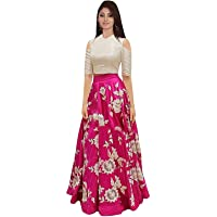 MR Fashion Women's Satin Lehenga Choli (Multicolour, Free Size)