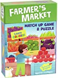 Peaceable Kingdom Farmer's Market 24 Card Color Match Up Memory Game and Floor Puzzle for Kids