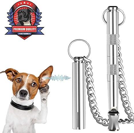 Dog Whistle Adjustable Frequency Ultrasonic Pure Copper Dog Whistles /& Dog Training Manual Instruction Professional Dog Training Tools