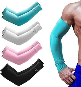 Cooling Arm Sleeves for Men Women UPF 50 UV Protection Sun Sleeve By DASUTA