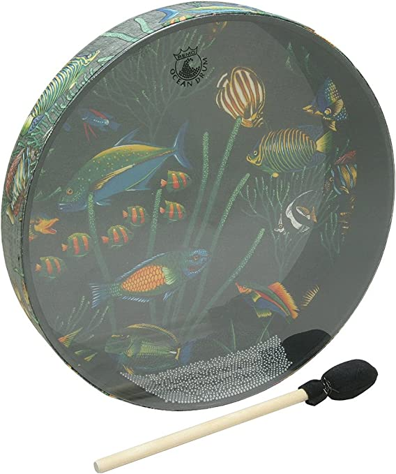 Package Of 3 Remo OCEAN DRUM 22-by-2.5-Inch FISH