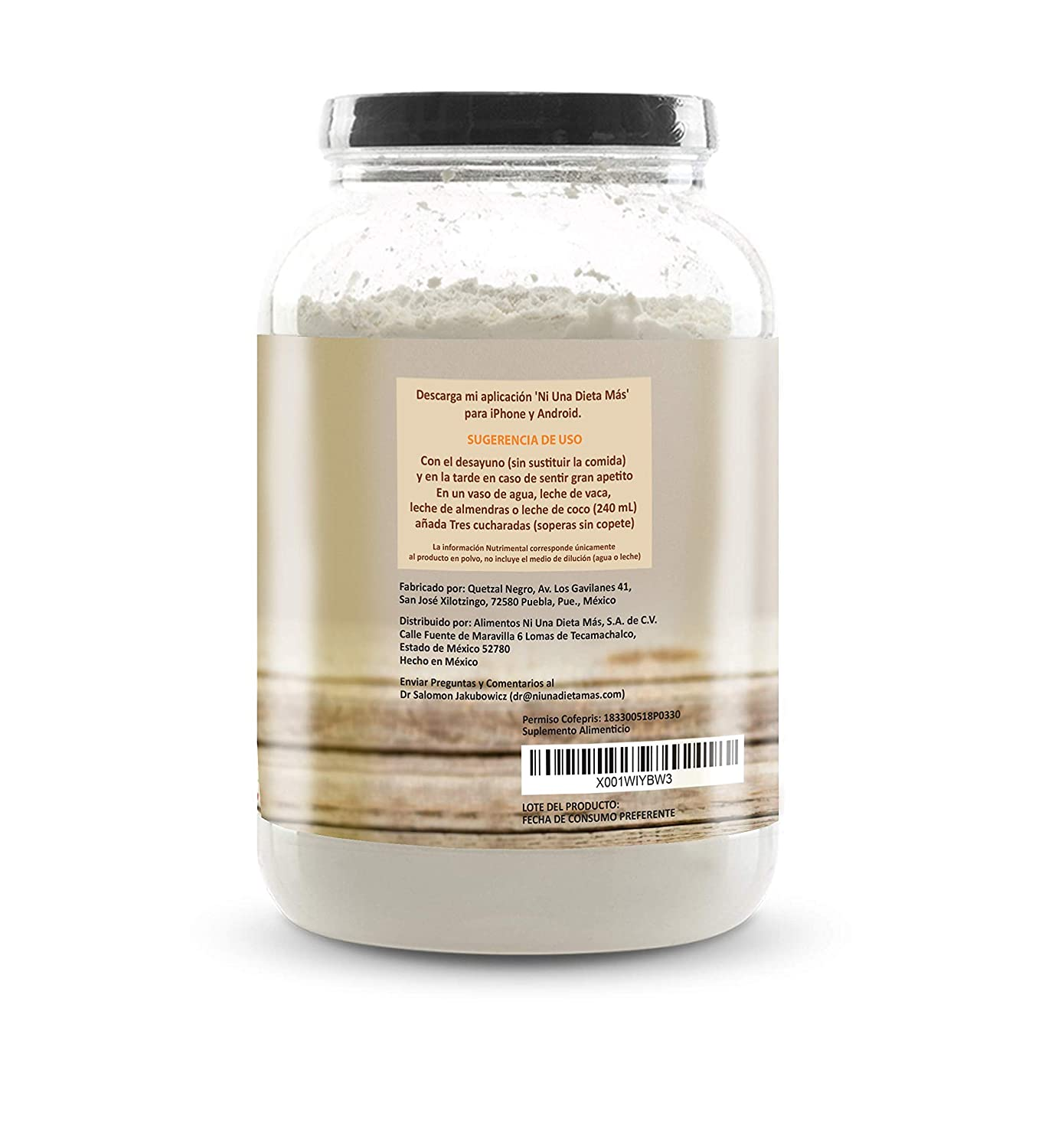 Amazon.com: Ni Una Dieta Más (vanilla) whey protein isolate: Health & Personal Care