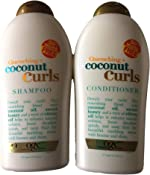 OGX Quenching Plus Coconut Curls Bundle Shampoo & Conditioner 19.5 Ounce