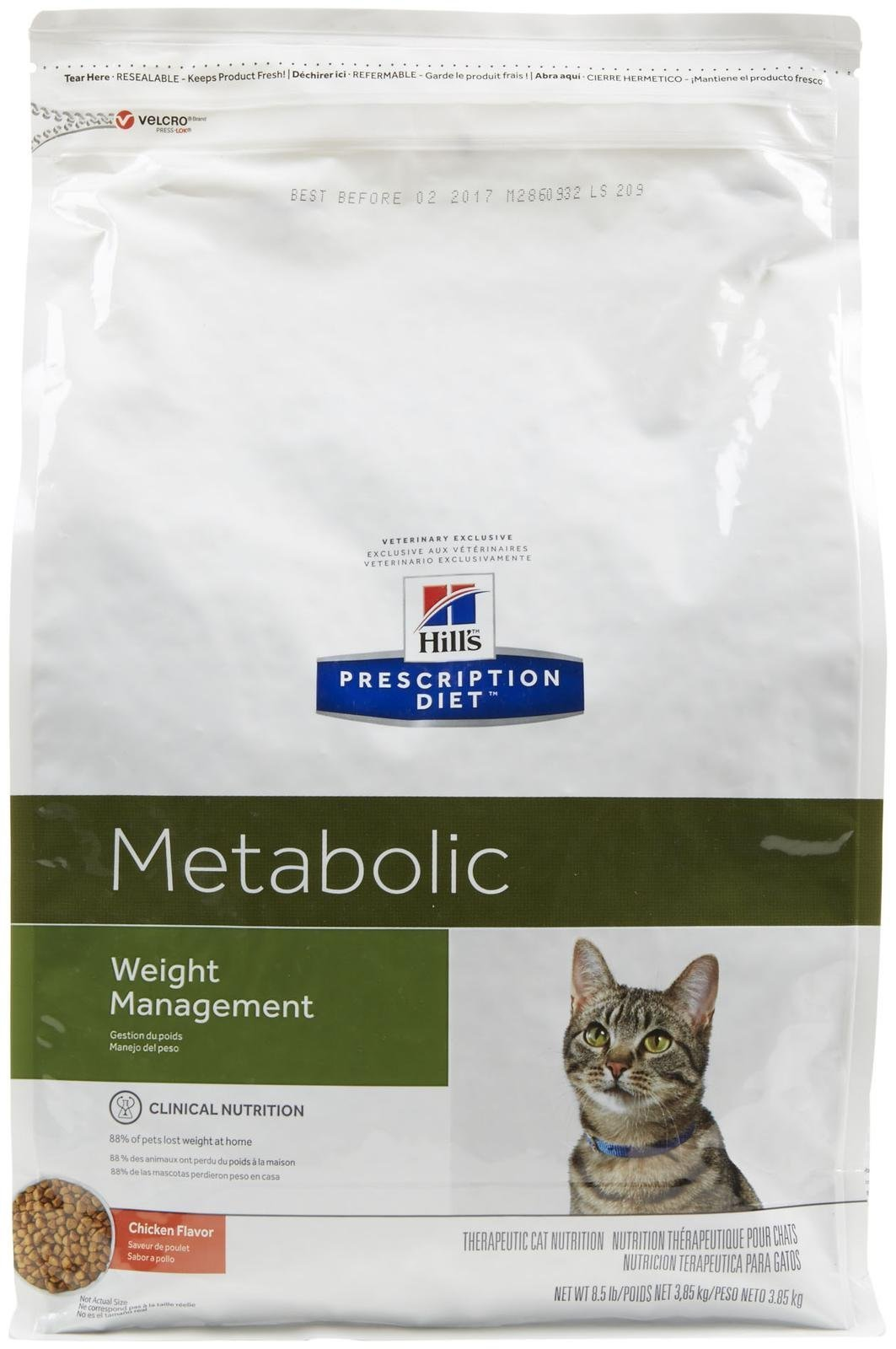 Hill's Prescription Diet Feline Metabolic Advanced Weight Solution Dry Cat Food, 8.5-lb bag