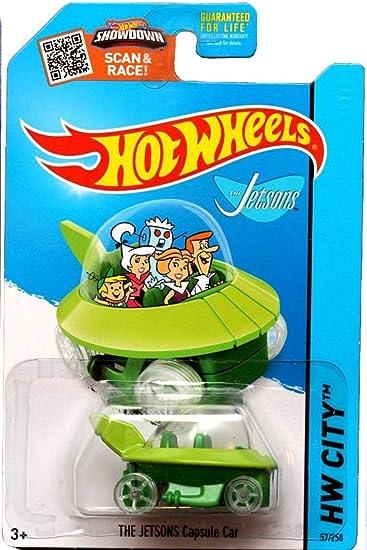 hot wheels 2015 hw city the jetsons capsule car 57250 - Rare Hot Wheels Cars 2015