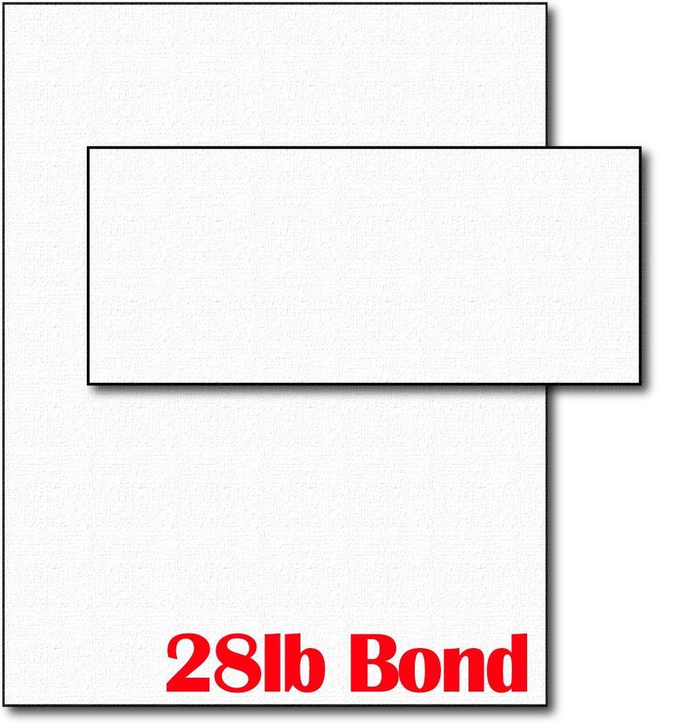 28lb White Linen Resume Paper & Envelopes - 40 Sets by Desktop Publishing Supplies, Inc.