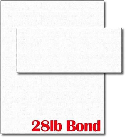 Amazon Com 28lb White Linen Resume Paper Envelopes 40 Sets