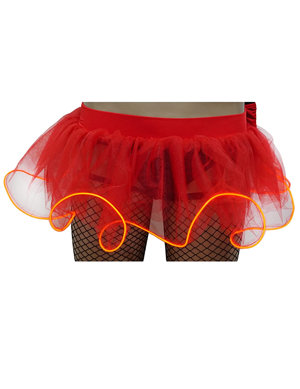 newrong Womens LED Light up Tutu Skirt