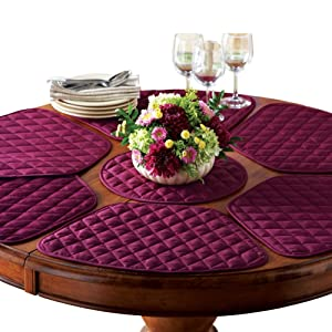 Collections Etc Kitchen Table Placemat And Centerpiece Set - 7 Pc, Red