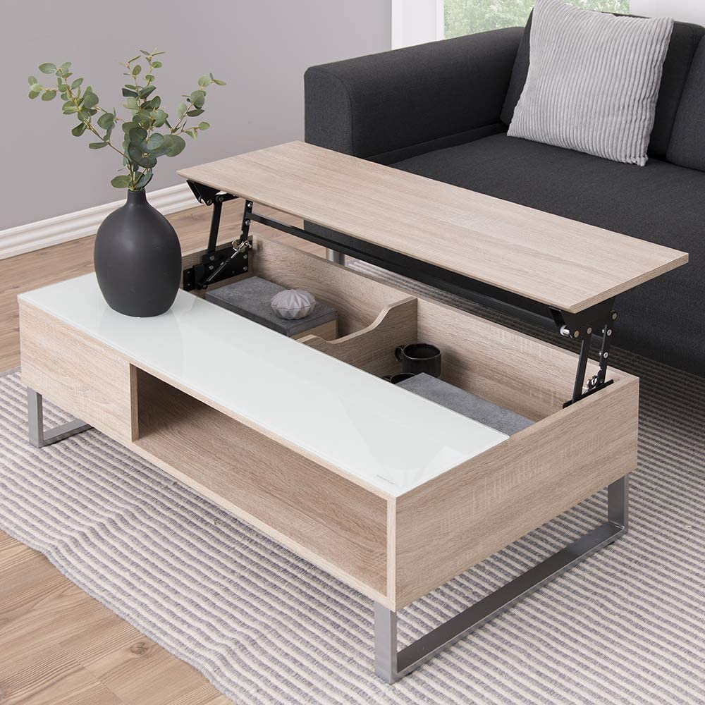 60/x/110/x/35/cm Finition ch/êne longueur/x/largeur/x/hauteur Movian Inn Marque Table basse