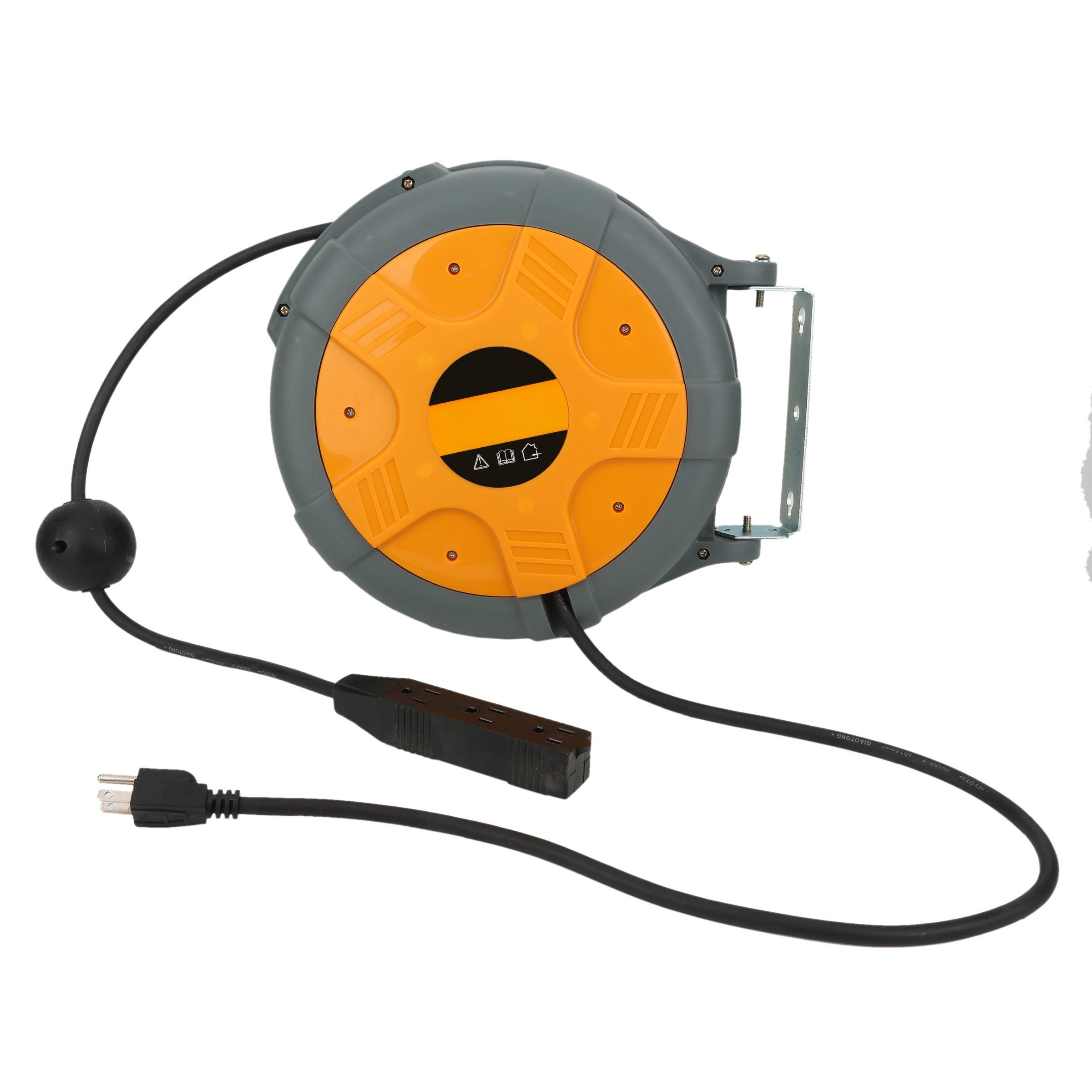 Valianto USA Standard Plug&Wire Design LS-150 10-Meter Electric Auto Rewind Cord Reel by Valianto