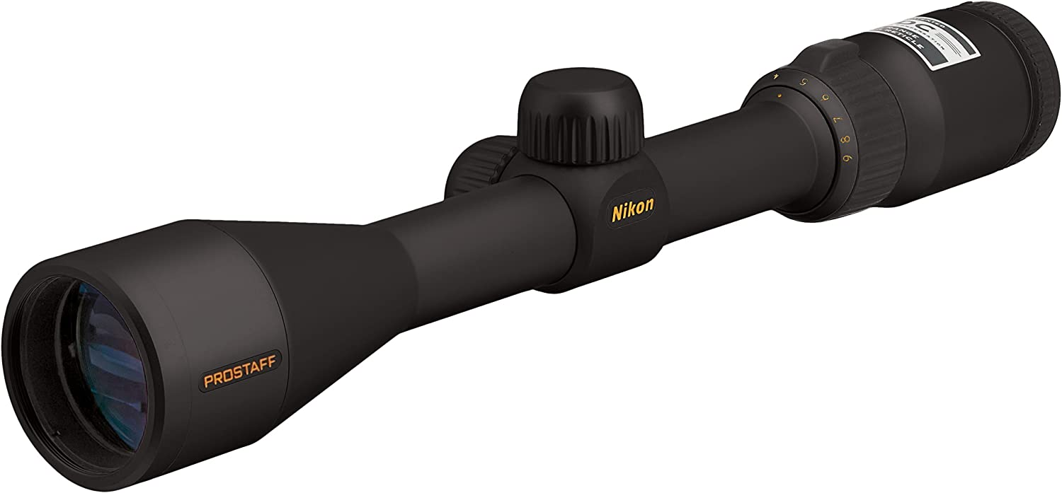 Nikon ProStaff Black Matte Riflescope (BDC), 3-9x magnification.