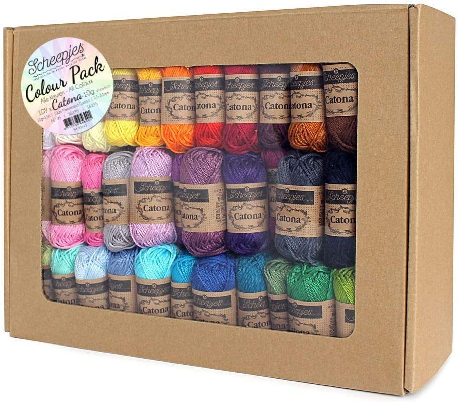 Scheepjes Catona Colour Pack - 109 Catona 10g Balls of Yarn