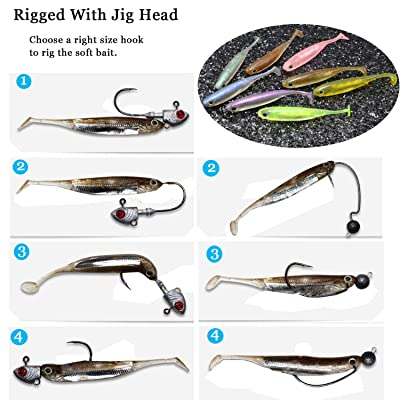 Details about  /Prettyia 2pcs T Tail Soft Fishing Lures Artificial Worm Fishing Lures Baits