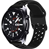 Surace Compatible with Galaxy Watch 3 Band 45mm, Soft Silicone Sport Band with Quick-Release Pin Replacement for Galaxy Watch
